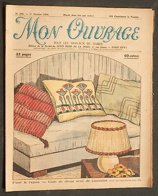 'mon Ouvrage' French Vintage Newspaper 1 October 1934