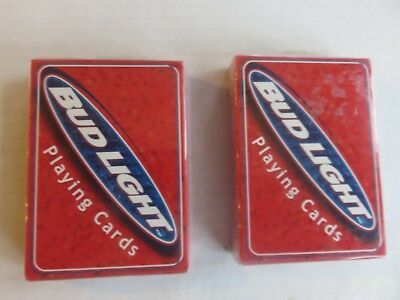 Vtg 1999 Sealed Bud Light Playing Cards NOS- 2 Decks