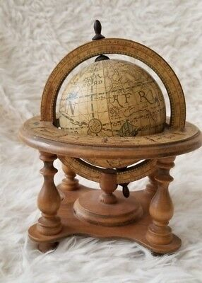 "Vintage Olde World 5.5"" Diameter Tabletop Stand Globe Renaissance Medieval Italy"