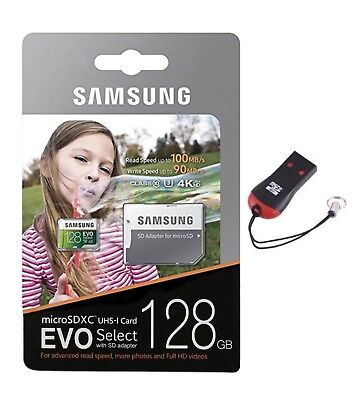 Samsung 128GB EVO Select UHS-i Class 10 MicroSDXC Micro SD Card with Adapter