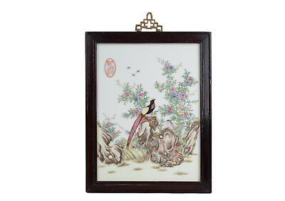 China 20. Jhd. Porzellanbild - A Chinese Famille Rose Porcelain Panel Chinois