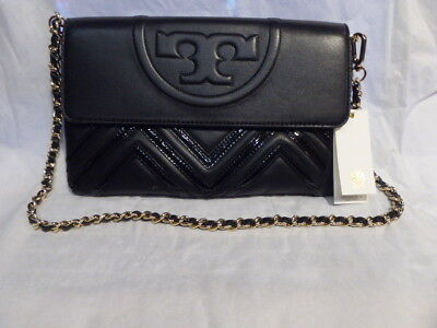 b0e9a5dd2969 Tory Burch Fleming Geo-Leather Clutch Shoulder Bag  44601 New with Tags