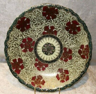 Antique Hand Painted Nippon Gold Highly Decorated 10 inch Plate-Beautiful