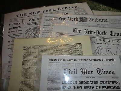 Civil War Reproduction Newspapers 5 Publications-NEW