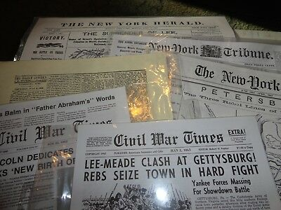 Civil War Reproduction Newspapers 6 Publications-NEW