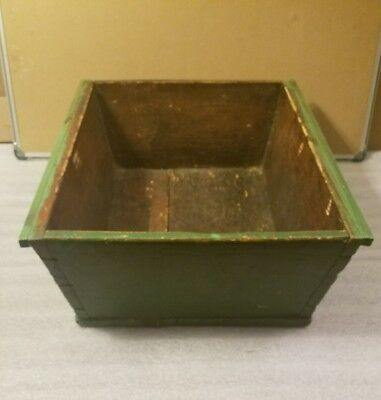 """Large  Vintage Old Wooden  Box Tote Rustic Decor Planter Box 2' X 20"""" X 8"""" deep."""