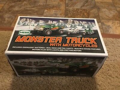 2007 Hess Monster Truck 1 Motorcycle Gasoline Toy With Box