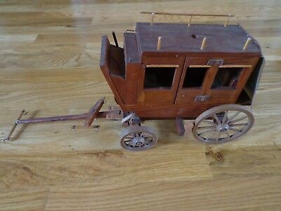 Decorative wooden stagecoach
