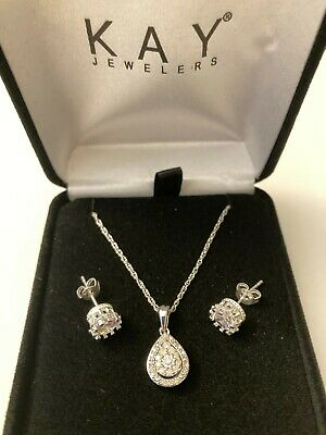 bd54ed19a Brand New! Valentines Kay Jewelry Heart Necklace + Beautiful Earring Jared  Zales