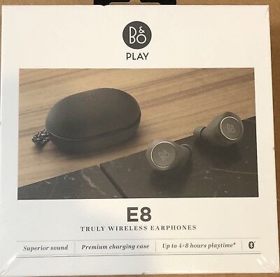 B&O PLAY E8 by Bang & Olufsen Beoplay Wireless Bluetooth Earbuds Charcoal Sand