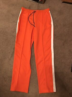 58fce1d8e45 Hunter x Target Tapered Side Snap Track Pants M Sweatpants Orange Polyester  Men