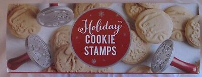 NIB Nordic Ware Holiday Cookie Stamps, Set of 3. Snowflake, Wreath, Gift Tag