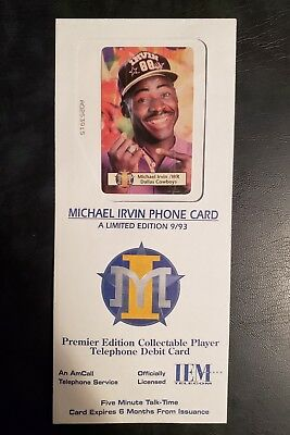 1993 Super Bowl Michael Irvin Cowboys Limited Edition 9 of 93 Collectible Sealed