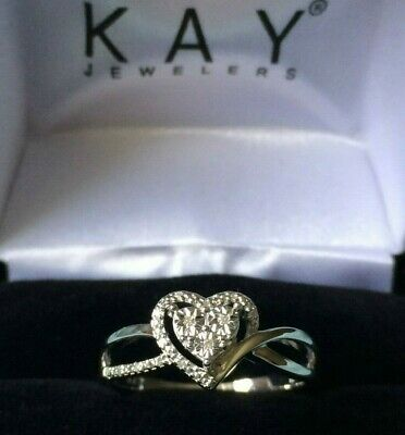 9825d8795 2019 Kay Jewelers Diamond Heart Forever Ring + Free Earings Jared Zales  Women's