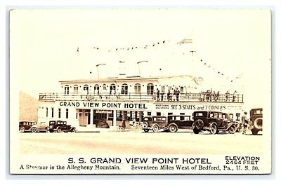 Vintage Photo Postcard S.S. Grand View Point Motel Bedford Pennsylvania 1933 B7