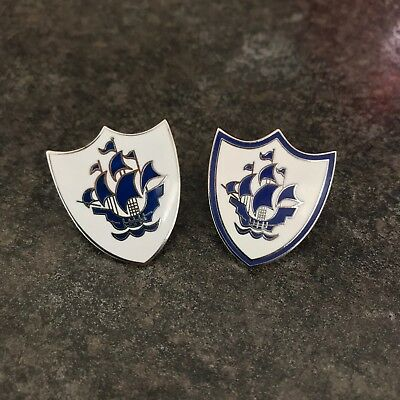 White Blue Peter Enamel Pin Badge Set | Bbc Childrens Kids Tv | Fancy Dress