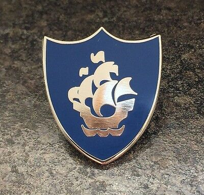 Blue Peter Blue / Silver Enamel Pin Badge | Kids Children Tv Retro Novelty