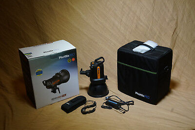 Phottix Indra 360 Studio Strobe Light with case, battery and charger