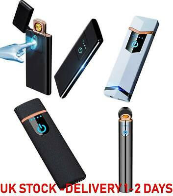 Electric Lighter Touch Fingerprint Sensor USB Rechargeable Flameless Windproof
