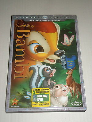 Walt Disney BAMBI includes DVD & Blu-Ray Diamond Edition