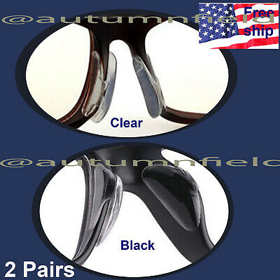 2 pairs Anti-slip silicone Stick On Nose Pads For Eyeglasses Sunglasses Glasses