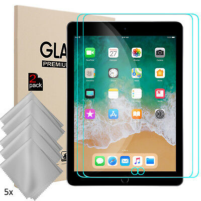 For iPad 9.7 inch 2018/Air 2/5/6 Tempered Glass Screen Protector+Cleaning Cloth
