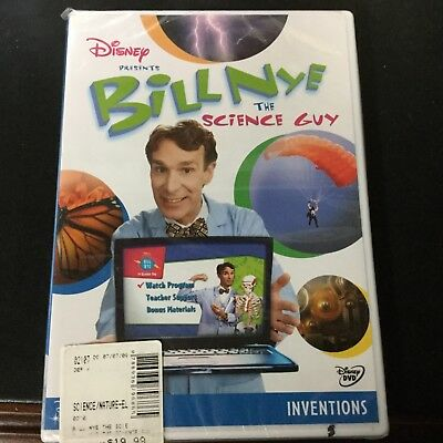 Disney BILL NYE THE SCIENCE GUY Inventions DVD new and sealed