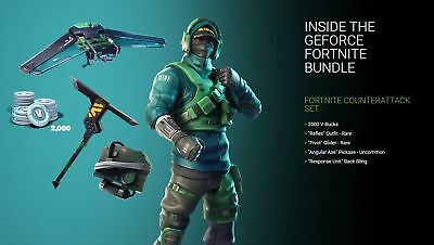 NVIDIA GeForce Fortnite Counterattack Set Game Code for PC/PS4/Xbox