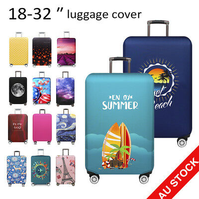 Travel Luggage Suitcase Cover Protector Thick Elastic Dustproof Bag Case 18-32""