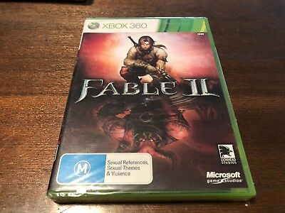 Factory Sealed BRAND NEW Fable II 2 Microsoft Xbox 360 Game