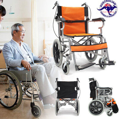 34'' Foldable Lightweight Solid Medical Wheelchair Armrest Footrest With Brakes