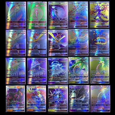 200Pcs 195GX+5MEGA Latest Pokemon Card GX Cards English Flash Cards Collections