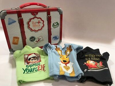 Elf On The Shelf Claus Couture Collection 3 T-Shirts With Suitcase, Elf-Size