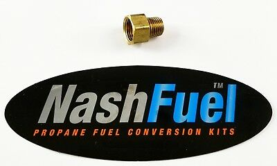 """Male 1/4"""" Npt To Female 3/8"""" Inverted Flare Propane Natural Gas Fitting Lpg Pipe"""