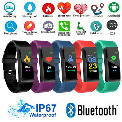 Fitness Watch Activity Step Tracker Calorie Counter Fit Bracelet Wristband UK