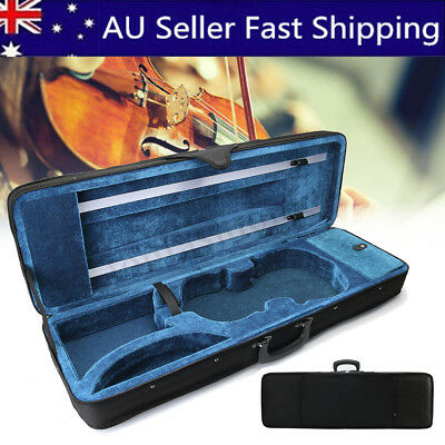 AU 4/4 Size Oxford Fabric Triangle Shape Violin Box Portable Carry Hard Case