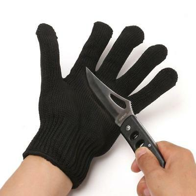 1Pc Unisex Working Protective Cut-Resistant Gloves Anti Abrasion Safety Black