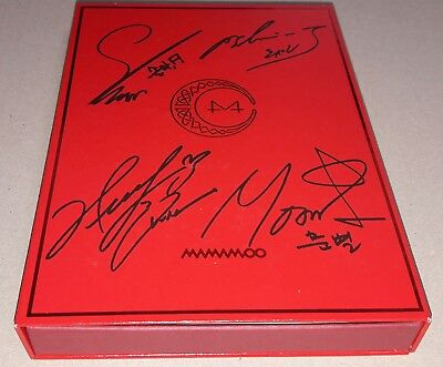 MAMAMOO RED MOON 7th Mini Album K-POP REAL SIGNED AUTOGRAPHED PROMO CD