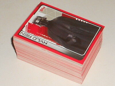 Mixed lot of Star Wars The Last Jedi Trading Cards