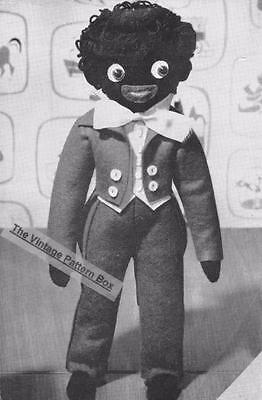 """1950's felt DOLL - 12"""" height  - COPY toy sewing pattern"""