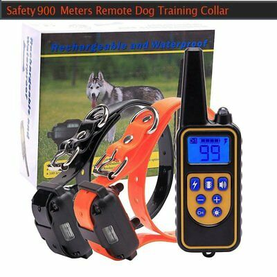 Waterproof LCD Rechargeable Electric Remote Dog Training Shock Collar 900M US