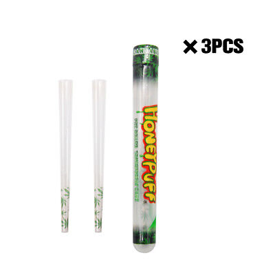 3 Packs Honeypuff  Flavored Pre Rolled Cones Clear Non Tobacco Cone