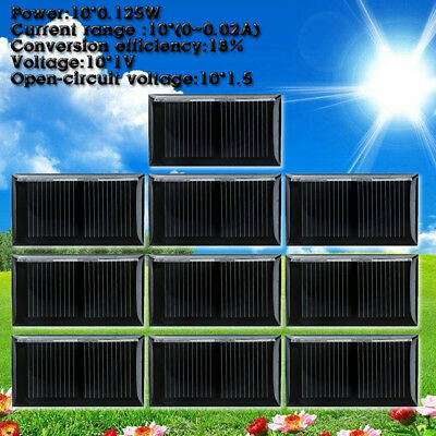 10pcs 1V 125mA Mini Solar Power Panel Module For DIY Battery Cell Phone Charger