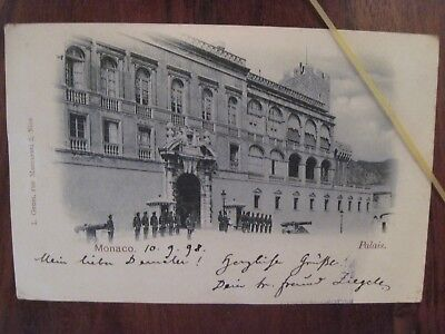 CPA MONACO Palais Garde Suisse old postcard 1898 carte postale ancienne Germany