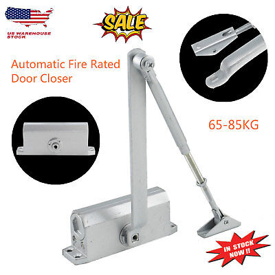 Adjustable 65-85KG Aluminum Commercial Door Closer Two Independent Valve Control