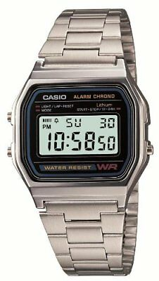 GENUINE CASIO MENS WATCH Vintage Retro 80s A158WA-1JF From Japan F/S