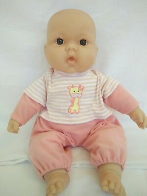 BERENGUER 38cm Baby Doll Cloth Body Vinyl Arms/Legs Beanie Bottom Brown Eyes