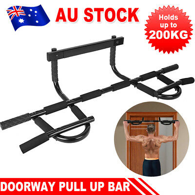 Fitness Muscle Chin Pull Up Bar Doorway Power Door Exercise Portable Gym Station