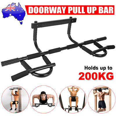 Door Chin Pull Up Bar Exercise Portable Gym Muscle Power Fitness Doorway Station