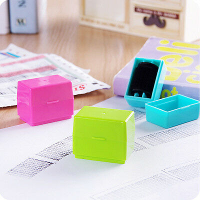 Office 1PC Guard Your ID Roller Stamp SelfInking Stamp Messy Code Security Hot